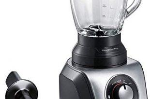 Bosch MMB66G5MDE SilentMixx Pro Standmixer, extrem leise, Glasblender, High-Speed Programm, 33.000 Motorumdrehungen/Min., einfache Reinigung, schwarz